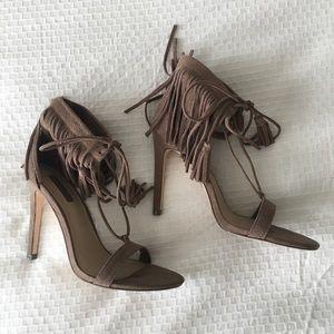 Fringe heels sz6.5